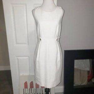 J. CREW White Midi Dress Size: 0